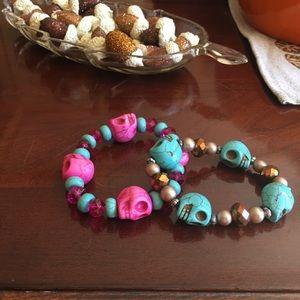 Jewelry - ☠️Perfect for Halloween 🎃 skull 💀 head bracelet